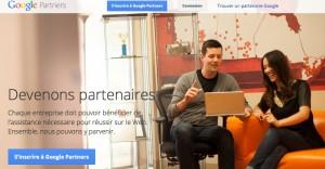 Voici la page pour créer votre compte google partners