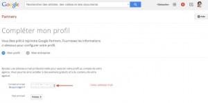 Remplir son profil google partners