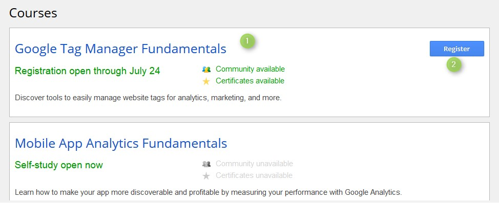 cours google tag manager