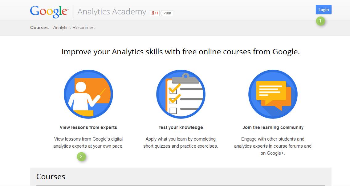 Page d'accueil google académie